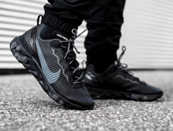 Nike React Element 55 PRM Black Quilted Grid CI3835