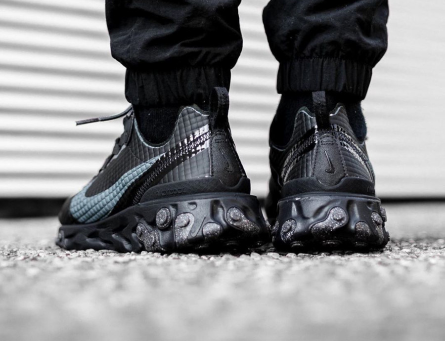 Nike React Element 55 Premium Black Dark Grey Anthracite (2)