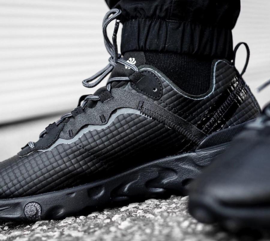 Nike React Element 55 Premium Black Dark Grey Anthracite (3)