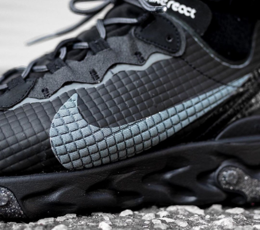 Nike React Element 55 Premium Black Dark Grey Anthracite (4)