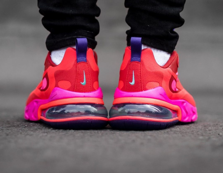 Nike Wmns Air Max 270 React 'Electronic Music' Mystic Red Bright Crimson (1)