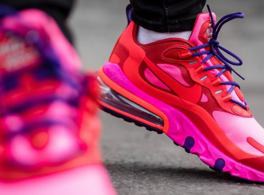 Nike Wmns Air Max 270 React 'Electronic Music' Mystic Red Bright Crimson (2)