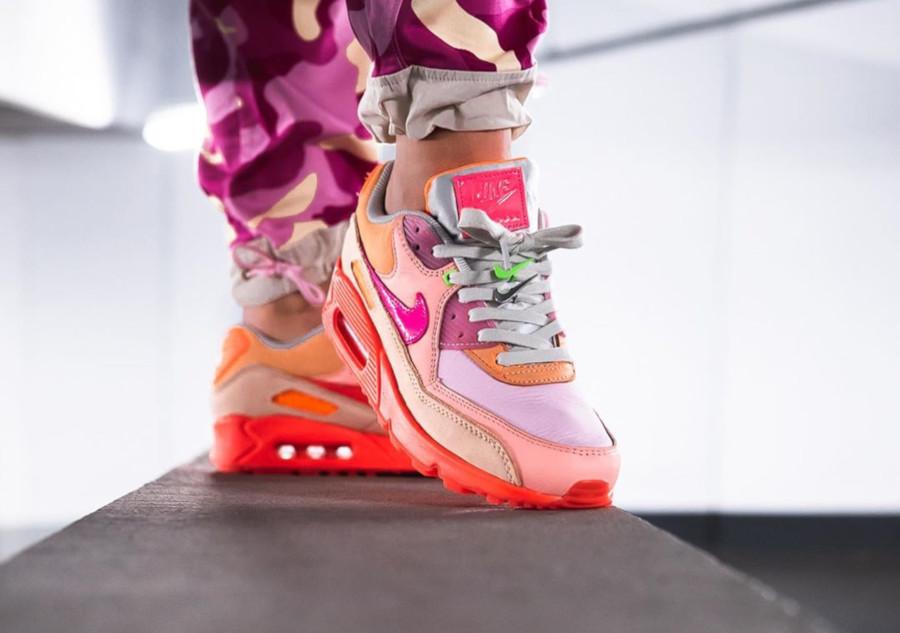 Nike Wmns Air Max 90 Premium 'CDG' Pink Shade (1-1)