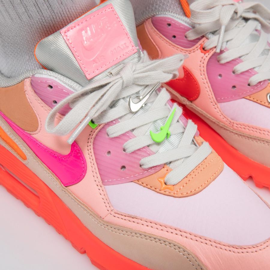 Nike Wmns Air Max 90 Premium 'CDG' Pink Shade (7)