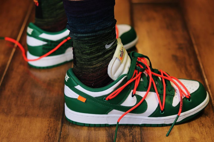 Off White x Nike Dunk Low White Pine Green (CT0856-100)