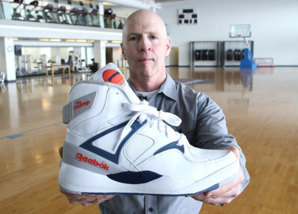 Paul Litchfield avec la Reebok Pump Bringback