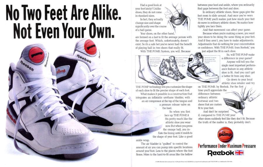 Publicité Reebok Pump Bringback vintage - @retrobok