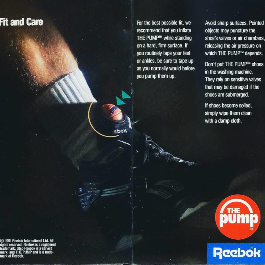 Publicité Reebok Pump II Hi 1991- @kicksreason