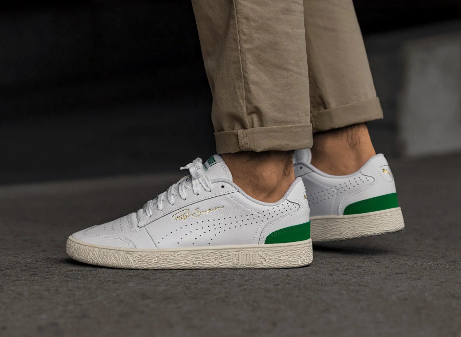 Puma Ralph Sampson Lo Perforated Soft 'White Amazon Green' (1)