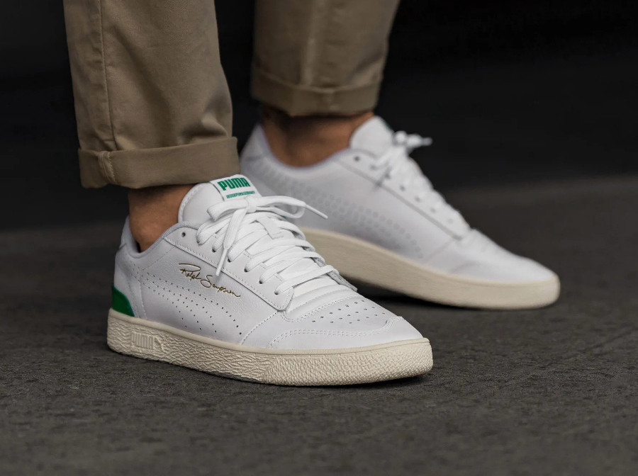 Puma Ralph Sampson Lo Perforated Soft 'White Amazon Green' (2)