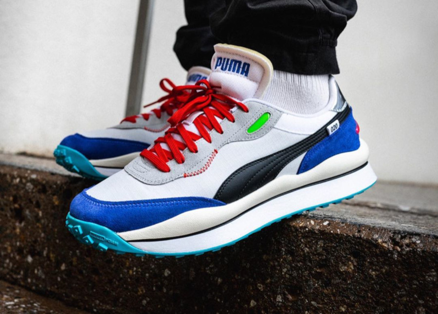 Puma Rider 020 Ride On 'White Dazz Blue High Rise' (3)