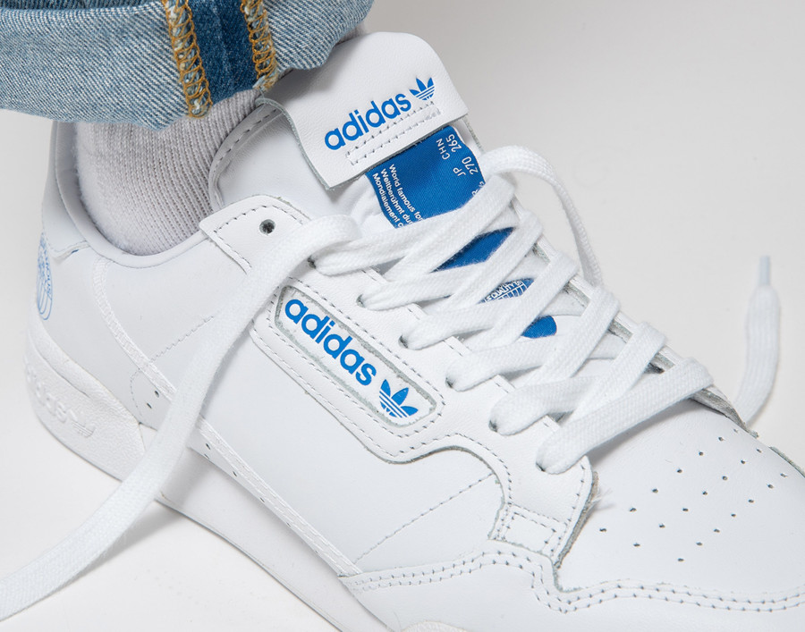Adidas Continental 80 White Bluebird (World Famous For Quality) (2)
