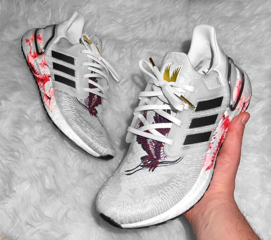 Adidas UltraBoost 20 Chinese New Year Crystal White Floral FW4314