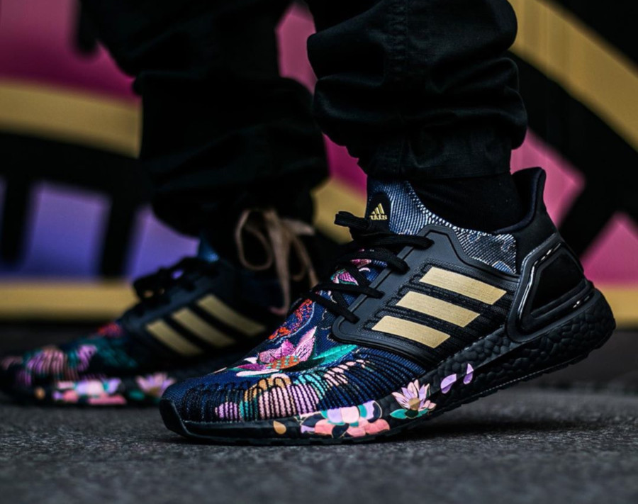 Adidas UltraBoost Chinese New Year Black Gold Floral FW4310 (1)