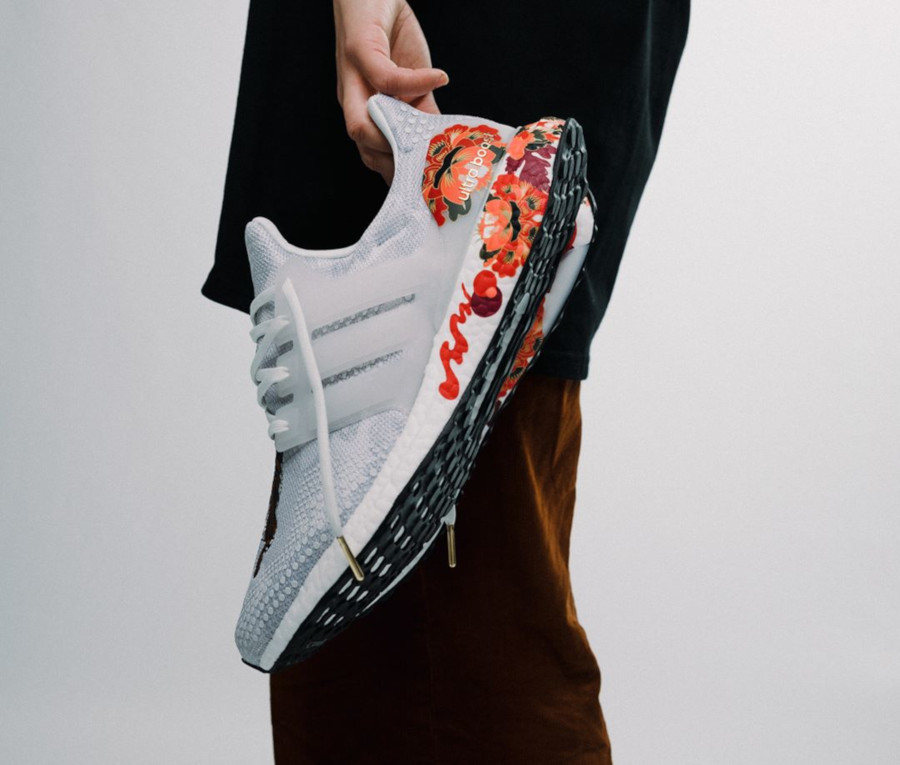 Adidas UltraBoost DNA Chinese New Year Crystal White (Floral Tiger) FW4313 (1-1)