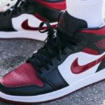 Air Jordan 1 Mid Noble Red (Bred Toe)