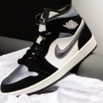 Air Jordan 1 Mid SE 'Black Smoke Grey Sail' (Satin Toe)