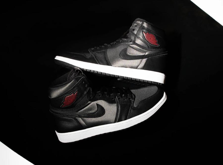 Air Jordan 1 Retro High OG 'Black Satin' Gym Red (2)