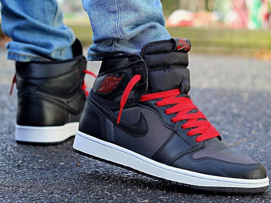 Air Jordan 1 Retro High OG 'Black Satin' Gym Red (3)