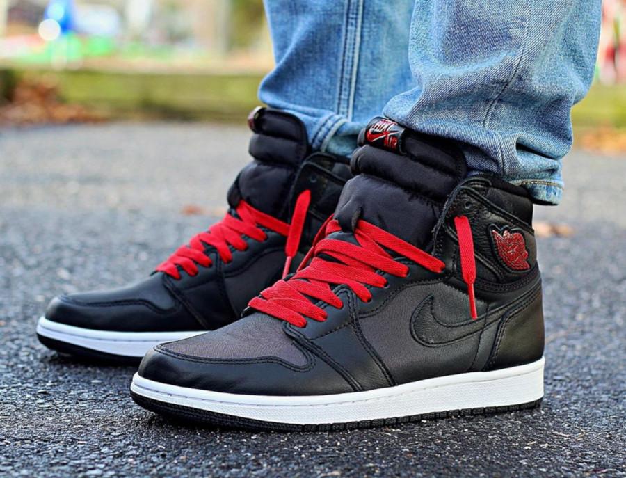 Air Jordan 1 Retro High OG 'Black Satin' Gym Red (7)