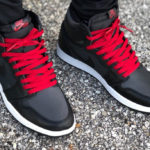 Air Jordan 1 Retro High OG 'Black Satin' Gym Red