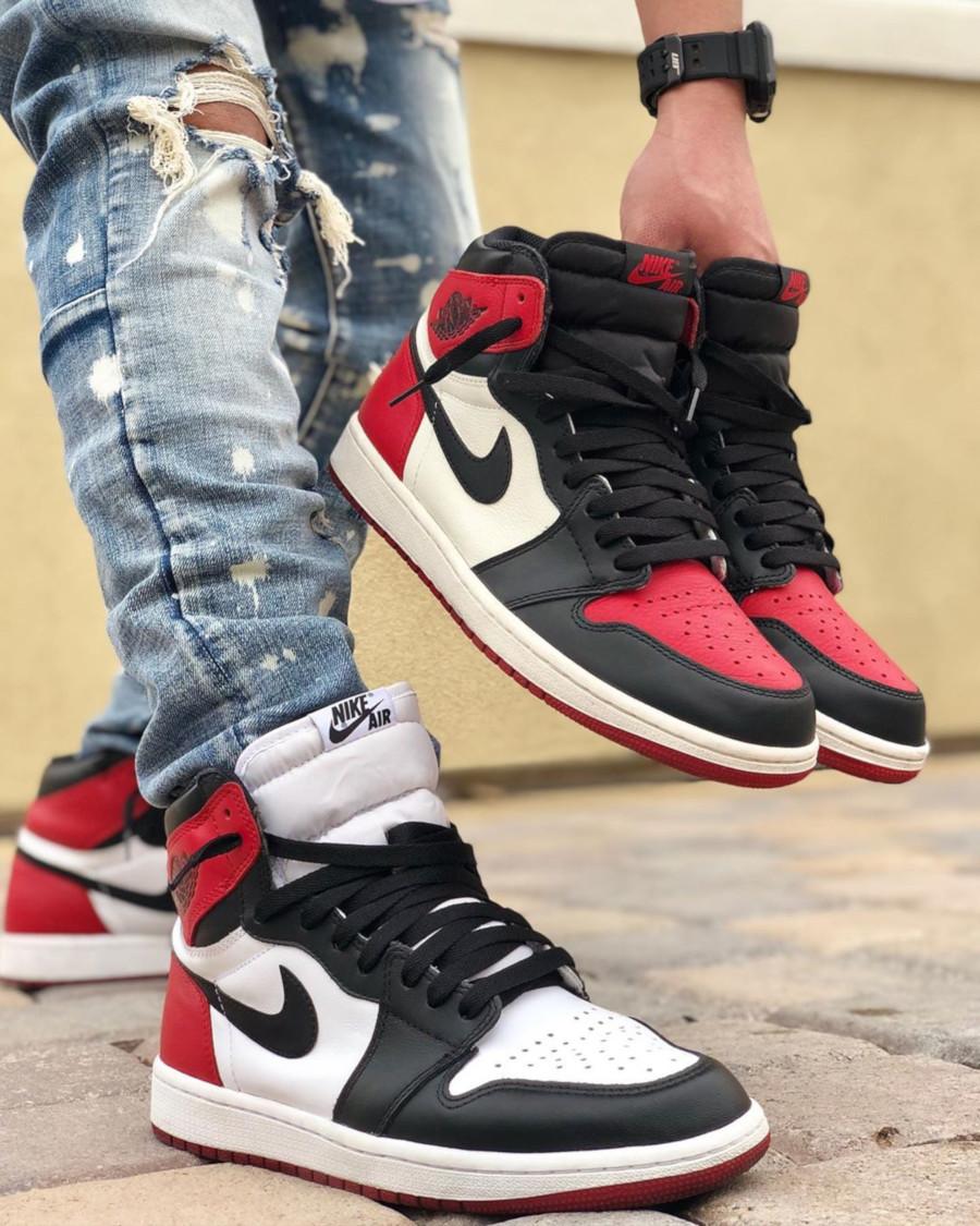 Air Jordan 1 high Retro Black et Air Jordan 1 High Retro Bred Toe