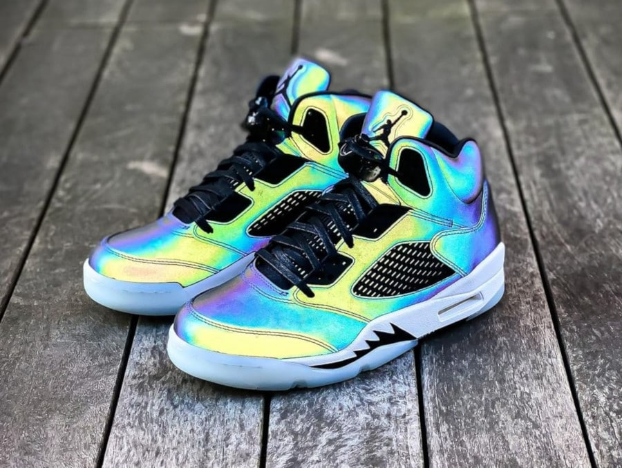 Air Jordan 5 femme Iridescent Oil Grey CD2722-001