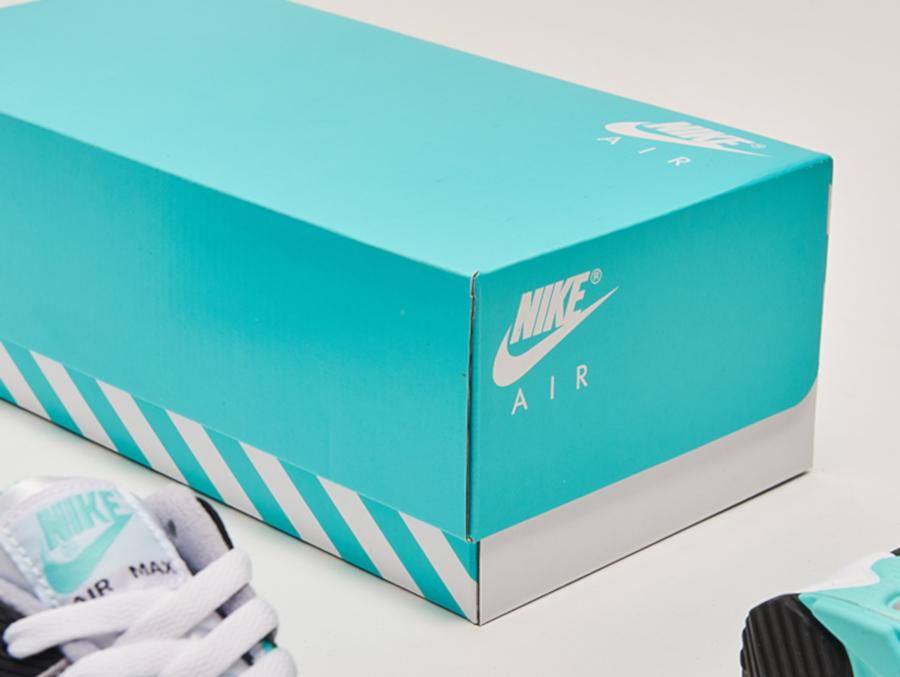 Boîte Nike Air Max 90 OG Turquoise 30ème anniversaire