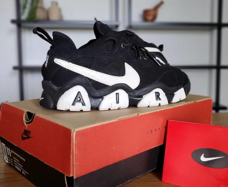 Nike Air Barrage Low Black White vintage de 1996 (1)