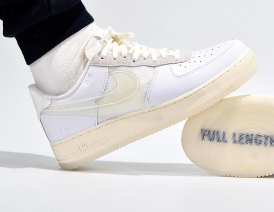Nike Air Force 1 '07 LV8 DNA 'White' (Full Length Air Sole - A1180) (5)