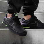 Nike Air Force 1 React Dimsix 'Black Violet Star Barely Volt'