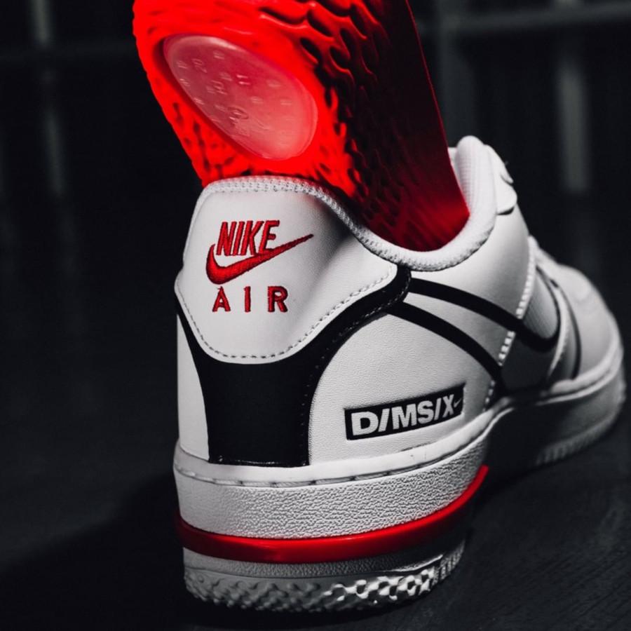 Nike Air Force 1 React DMSX White Black University Red (6)