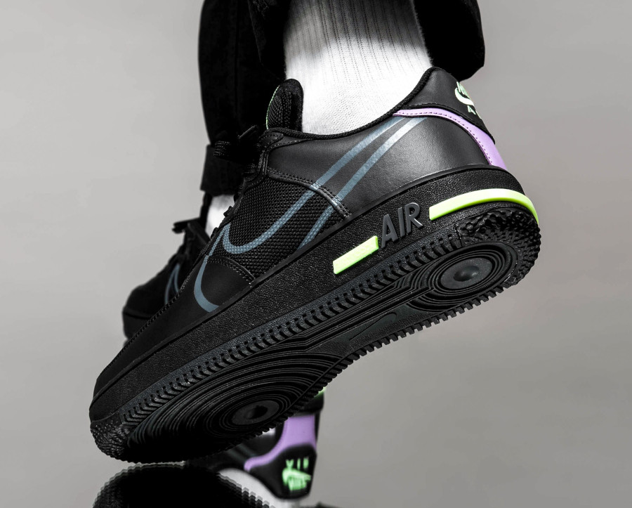 Nike Air Force 1 React Dimsix 'Black Violet Star Barely Volt' (3)