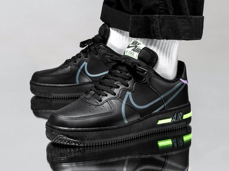Nike Air Force 1 React Dimsix 'Black Violet Star Barely Volt' (4)