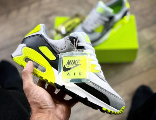 air max 90 jaune fluo