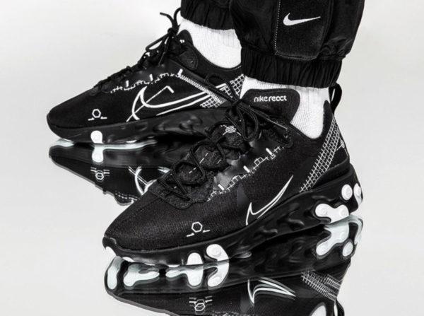 Nike React Element 55 Black Schematic CU3009-001