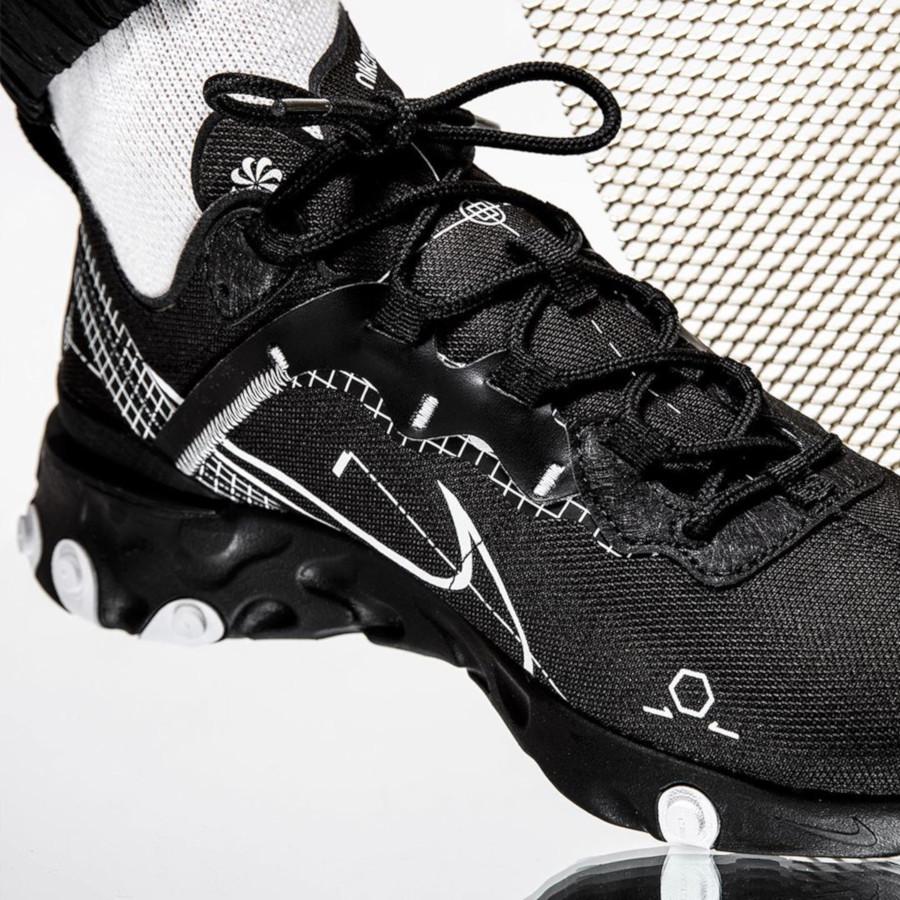 Nike React Element 55 noire Sketch to Shelf (2)