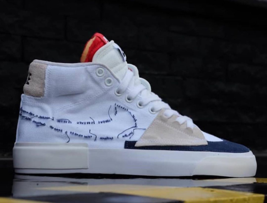 Nike SB Zoom Blazer Mid Edge 'White Midnight Navy' (Hack Pack) (2)