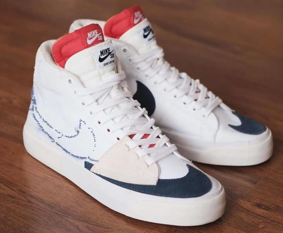 Nike SB Zoom Blazer Mid Edge 'White Midnight Navy' (Hack Pack) (3)
