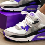 Nike Air Max 90 'White Particle Grey Hyper Grape' (30th Anniversary)