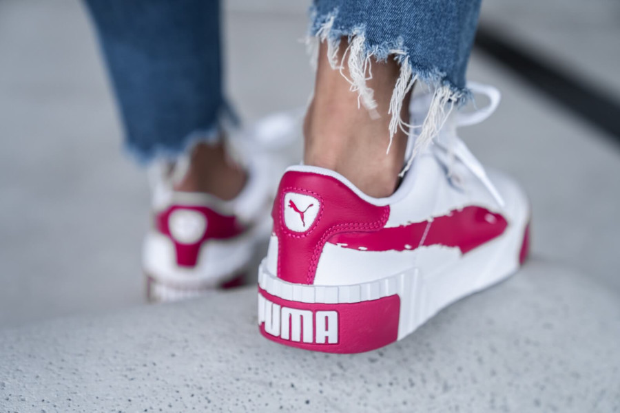 Puma Wn's Cali Brushed 'White Cerise' (1)
