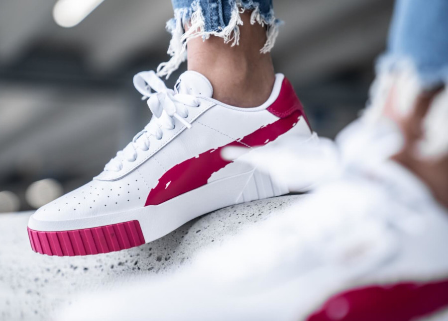 Puma Wn's Cali Brushed 'White Cerise' (2)