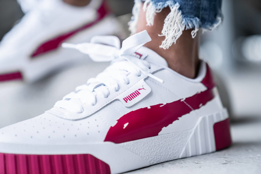 Puma Wn's Cali Brushed 'White Cerise' (3)