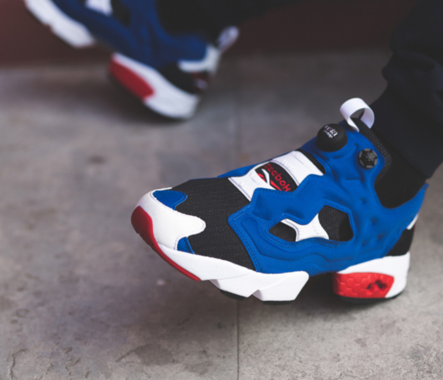 Reebok Instapump Fury OG White Blue Red pas cher