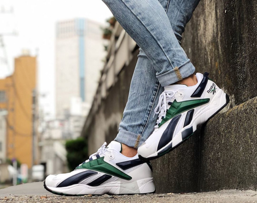 Reebok Interval 96 OG 'White Collegiate Navy & Dark Green' (2)