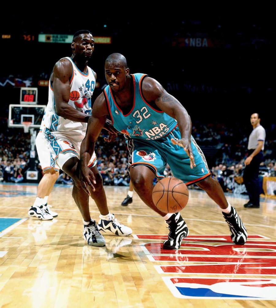 Shaquille O'Neal en Reebok Shaqnosis durant le All Star Game 1996