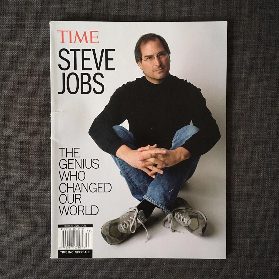 Steve Jobs en New Balance 992 OG Grey couverture du Time