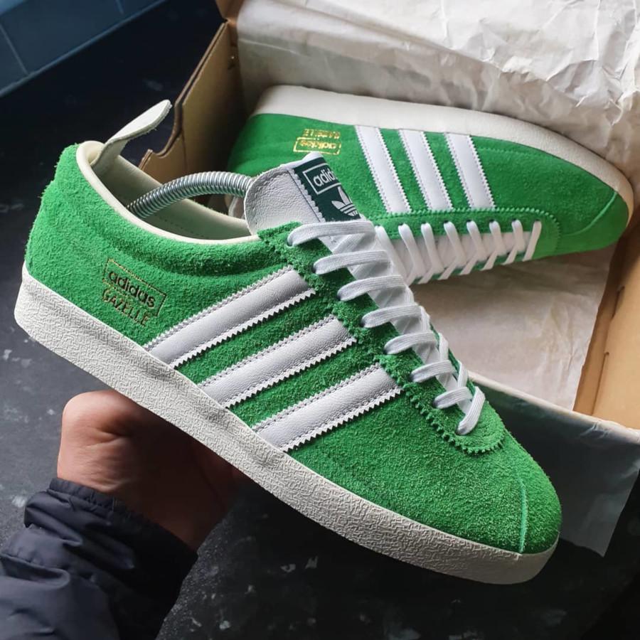 Adidas Gazelle Vintage Suede Semi Flash Green (1)