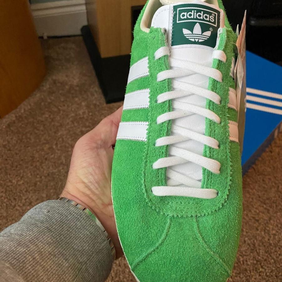 Adidas Gazelle Vintage Suede Semi Flash Green (3)