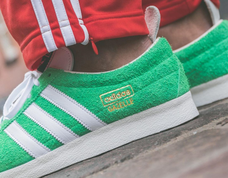 Adidas Gazelle Vintage Suede Semi Flash Green (4)